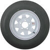 "Karrier ST175/80R13 Radial Trailer Tire with 13"" White Wheel - 5 on 4-1/2 - Load Range D Steel Wheels - Powder Coat AM31985"