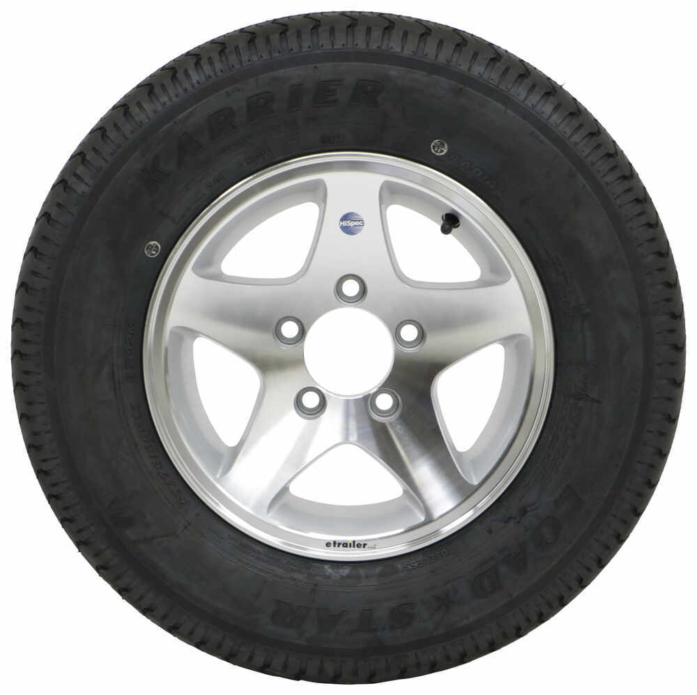 "Karrier ST175/80R13 Radial Trailer Tire with 13"" Aluminum ..."