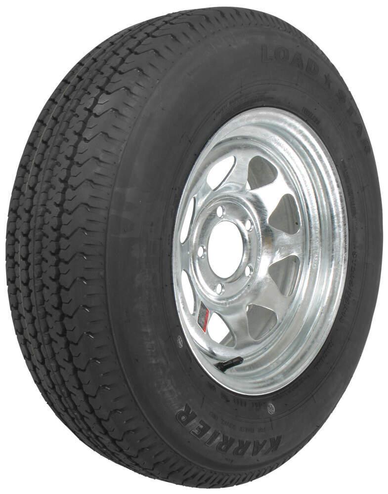 karrier st205 75r14 radial trailer tire with 14 galvanized wheel 5 on 4 1 2 load range c. Black Bedroom Furniture Sets. Home Design Ideas