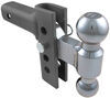 "EZ Hitch Adjustable, Steel Ball Mount Kit w/ 2 Hitch Balls - 4"" Drop or Rise - 10,000 lbs Class IV,10000 lbs GTW AM3290"