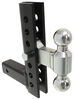 "EZ Adjustable Ball Mount with Combo Ball - 8"" Drop or Rise - 8,000 lbs Steel Ball AM3297"