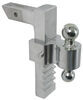 "Rapid Hitch Adjustable, Aluminum Ball Mount Kit w/ 2 Zinc Balls - 10"" Drop, 11"" Rise Two Balls AM3413"