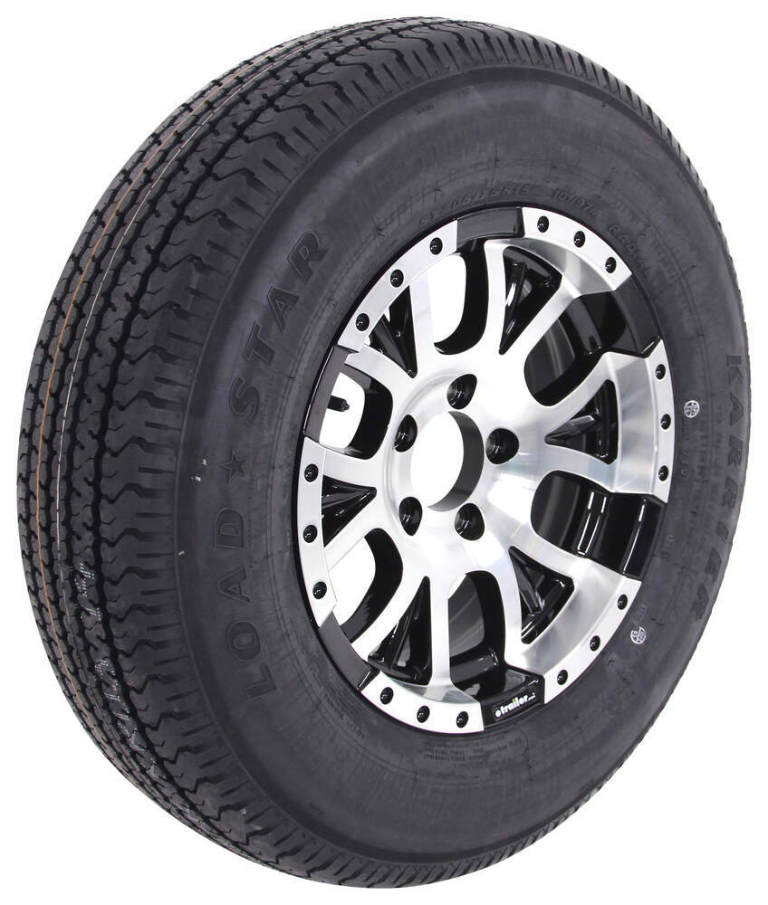 kenda karrier st205 75r15 radial trailer tire w 15 aluminum wheel 5 on 4 1 2 lr c black. Black Bedroom Furniture Sets. Home Design Ideas