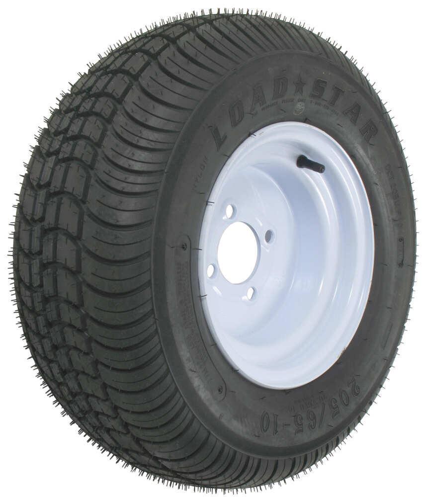 Kenda 205 65 10 Bias Trailer Tire With White Wheel 4 On Hymer Caravan Wiring Diagram Load Range B Tires And Wheels Am3h330