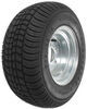 kenda tires and wheels 10 inch 5 on 4-1/2 205/65-10 bias trailer tire with galvanized wheel - load range e