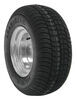 kenda tires and wheels tire with wheel 5 on 4-1/2 inch 205/65-10 bias trailer 10 galvanized - load range e