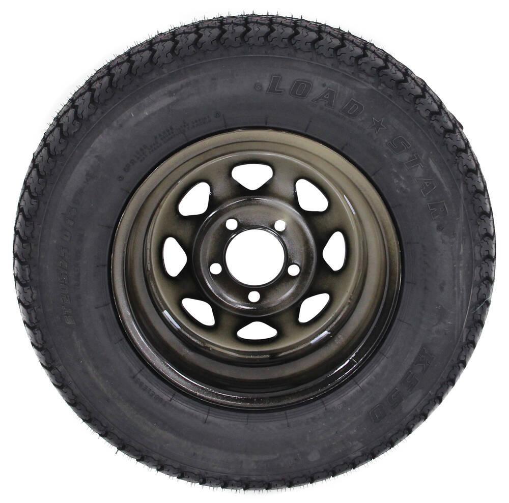 loadstar st205 75d14 bias trailer tire with 14 black wheel 5 on 4 1 2 load range c kenda. Black Bedroom Furniture Sets. Home Design Ideas