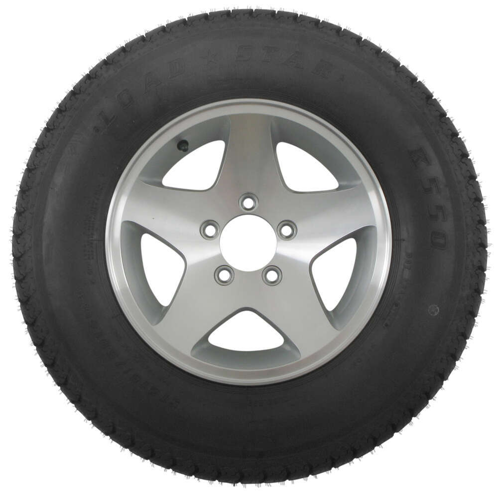 loadstar st215 75d14 bias trailer tire with 14 aluminum wheel 5 on 4 1 2 load range c kenda. Black Bedroom Furniture Sets. Home Design Ideas