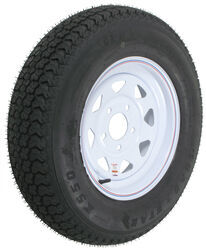 "Loadstar ST205/75D15 Bias Trailer Tire with 15"" White Wheel - 5 on 5 - Load Range C"