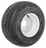 "Kenda 18x8.50-8 Bias Golf Car Tire with 8"" White Wheel - 4 on 4 - Load Range B"