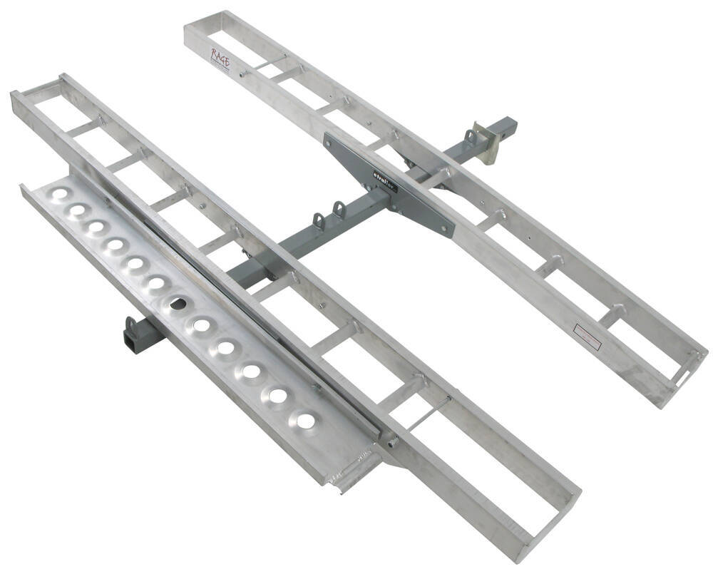 "Trailer Hitch Motorcycle Carrier >> Rage PowerSport Aluminum Double Motorcycle Carrier for 2"" Hitch Receiver - 600 lbs Rage ..."