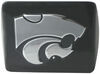 Front View of Kansas State University Chrome Mascot Emblem 2 Inch Hitch Cover