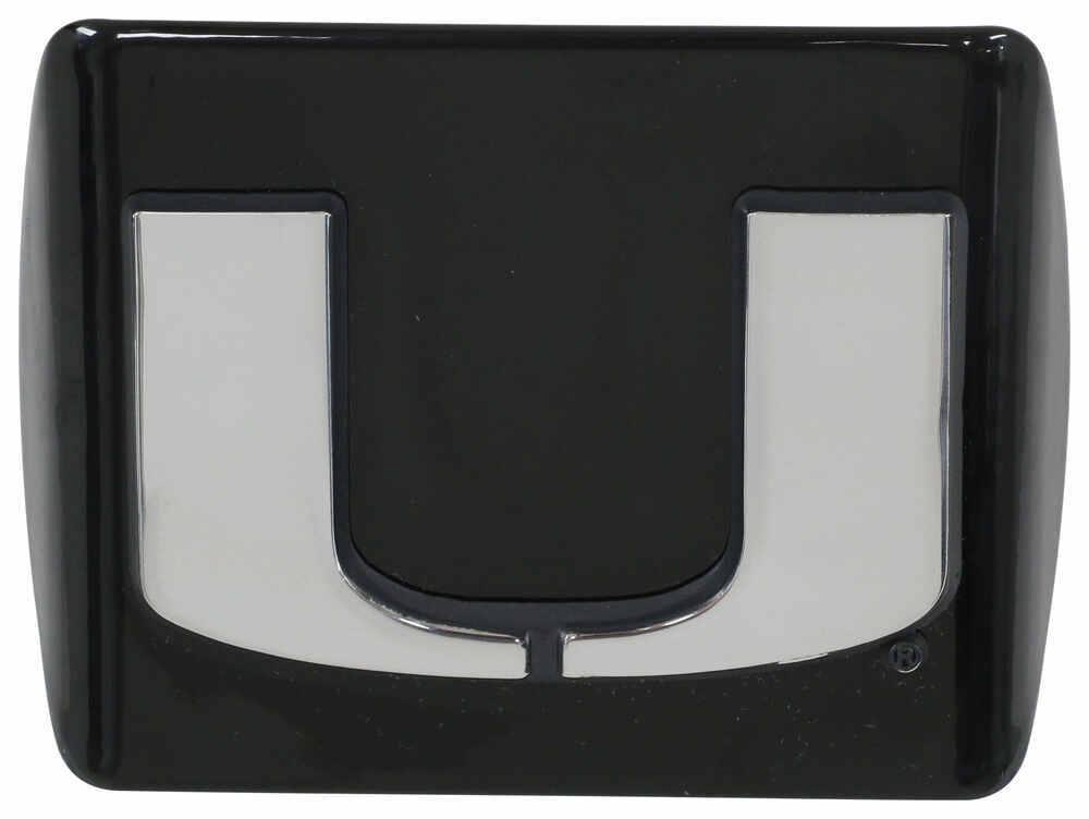 AMG University of Utah Metal Emblem with red U on Black Metal Hitch Cover