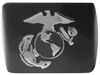 Front View of United States Marine Corps Chrome Emblem 2 Inch Hitch Cover