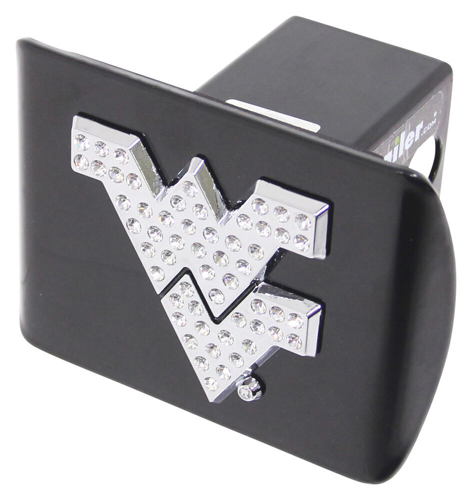 """West Virginia University Mountaineers Crystal Emblem 2"""" Trailer Hitch Receiver Cover Square AMG102516"""