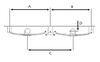 """Tandem-Axle Trailer Hanger Kit for Double-Eye Springs - 3-1/4"""" Front/Rear, 3-5/8"""" Center Double Eye Springs AP233-H248"""