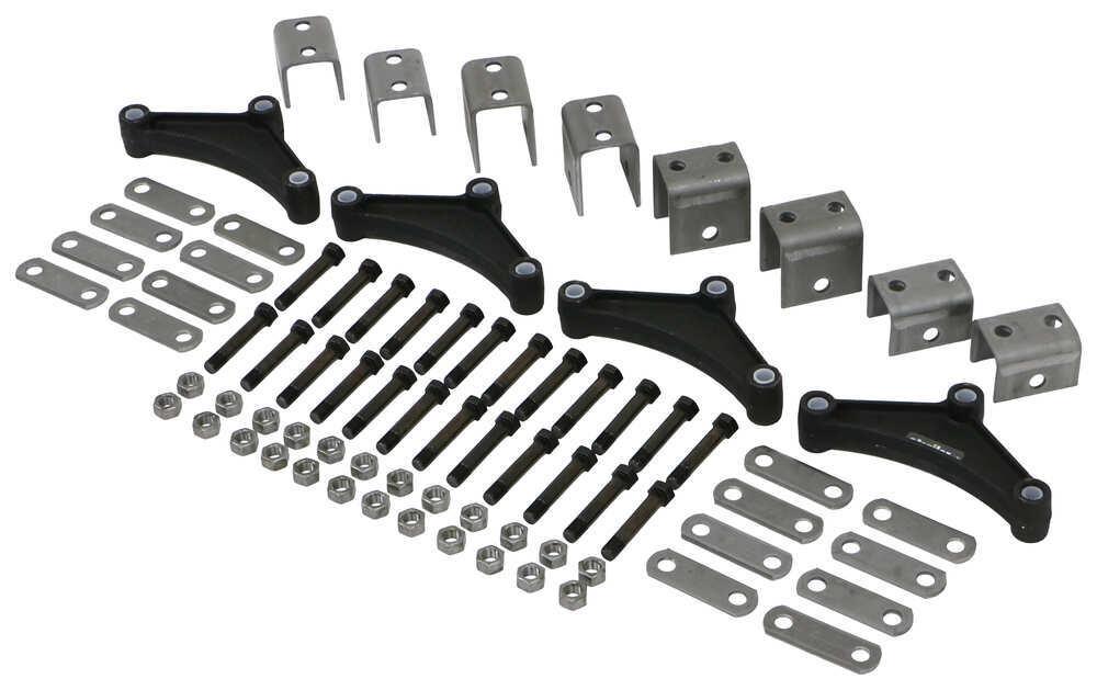 Triple axle trailer hanger kit for double eye springs 1 for Suspension triple