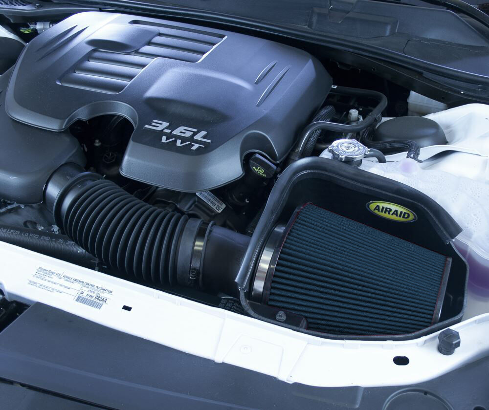 2015 dodge challenger airaid mxp cold air intake system with synthamax dry filter stage 2. Black Bedroom Furniture Sets. Home Design Ideas
