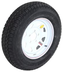 "Taskmaster ST205/75D15 Bias Trailer Tire with 15"" White Spoke Wheel - 5 on 4-3/4 - Load Range C"