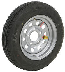 "Taskmaster 4.80R12 Radial Trailer Tire w/ 12"" Silver Mod Wheel - 5 on 4-1/2 - Load Range C"