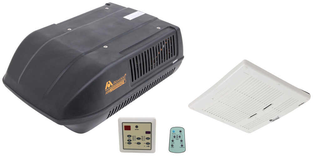 Atwood Air Command Rooftop RV Air Conditioner w/ Heat Pump - 15,000 Btu - Ducted - Black Ducted Ceiling Assembly AT15033-22