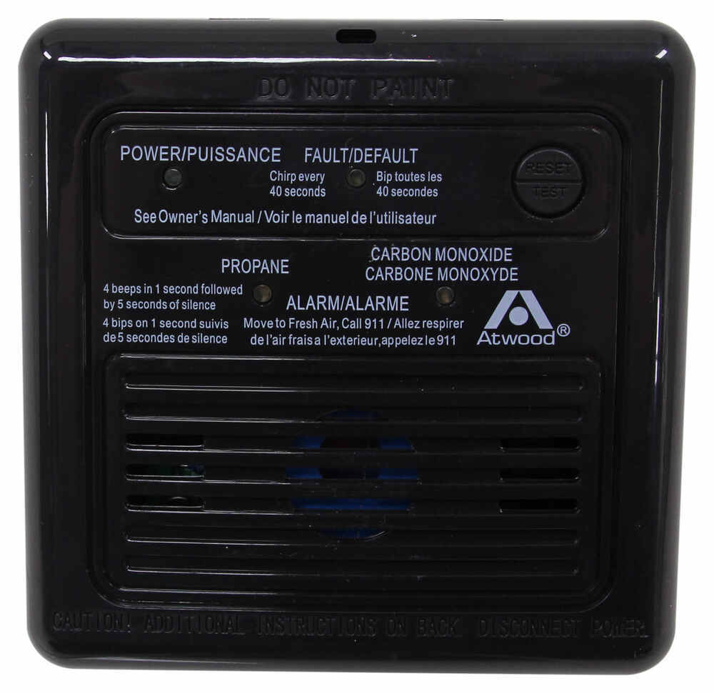 atwood rv carbon monoxide and propane gas detector - 12 volt - black atwood  rv gas detectors at31012
