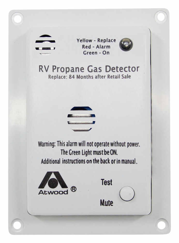 Atwood RV Propane Gas Detector - 12 Volt - White Atwood RV Gas