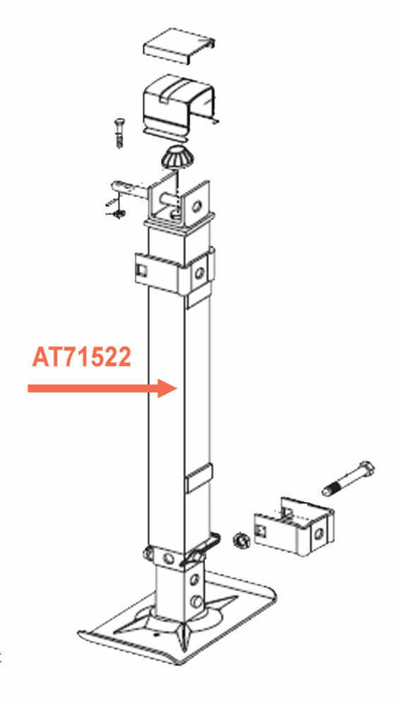 Replacement Follower Leg For Atwood 5th Wheel Leveling