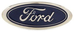 "Ford Trailer Hitch Cover - 2"" Hitches - Stainless Steel - Chrome and Blue"
