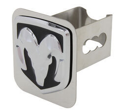 "Ram Trailer Hitch Cover - 2"" Hitches - Stainless Steel - Chrome and Black"