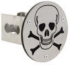 "Skull and Crossbones Hitch Cover - 2"" Hitches - Brushed Stainless Steel Fits 2 Inch Hitch AUT-SKL2-S"