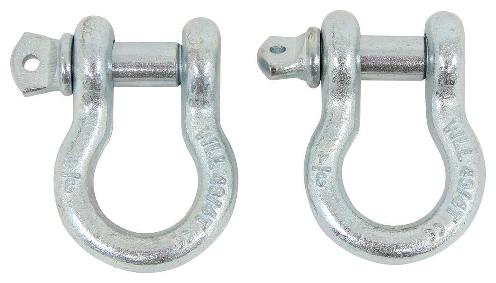 Set of 2 Bestop 42921-00 HighRock 4X4 D-Ring Shackle Set