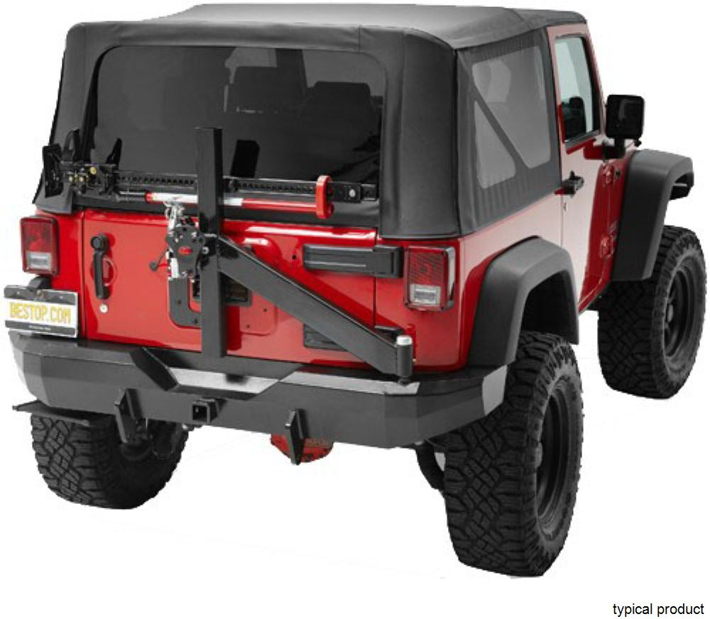 2016 jeep wrangler bestop highrock 4x4 rear bumper with 2. Black Bedroom Furniture Sets. Home Design Ideas