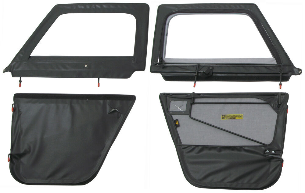 B5177201 - Black Bestop Full Door  sc 1 st  eTrailer.com & Compare Rampage Replacement vs Bestop 2-Piece | etrailer.com