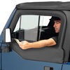 Bestop Upper Door Sliders for Jeep Wrangler, Wrangler Unlimited 1997-2006 - Black Denim Sliders B5178715