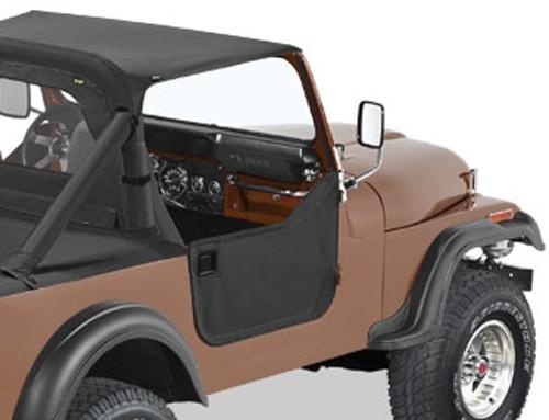 Bestop Soft Lower Half Doors For Jeep Black Denim Bestop