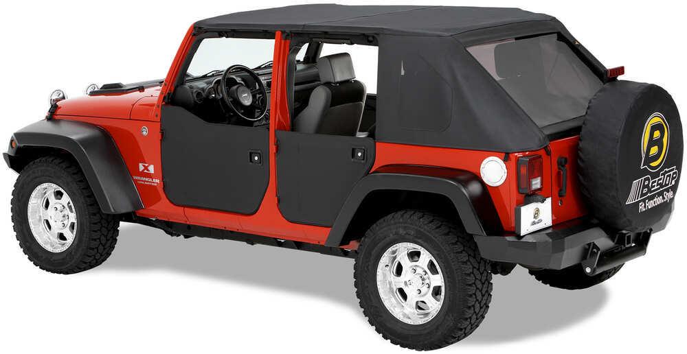Bestop Soft Lower Front Half Doors For Jeep Wrangler