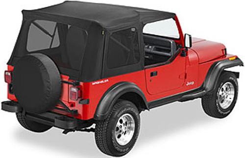 1991 jeep wrangler bestop supertop soft top for jeep black denim tinted windows. Black Bedroom Furniture Sets. Home Design Ideas