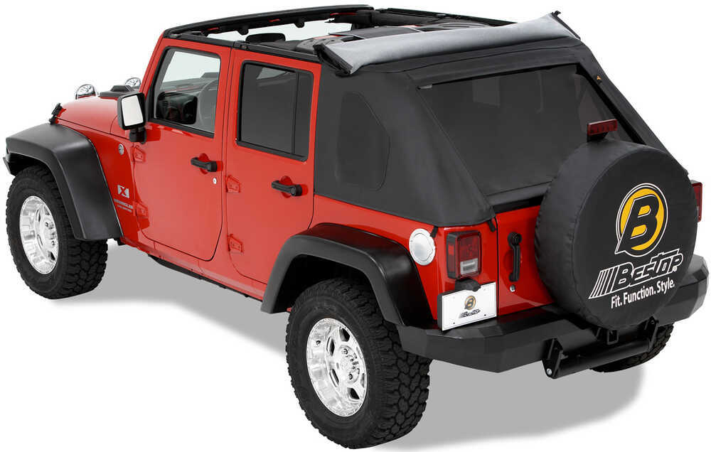 bestop trektop soft top for jeep wrangler unlimited 2004 2006 black diamond bestop jeep tops. Black Bedroom Furniture Sets. Home Design Ideas