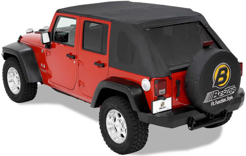 bestop trektop soft top for 2007 jeep wrangler unlimited black diamond bestop jeep tops b5680535. Black Bedroom Furniture Sets. Home Design Ideas