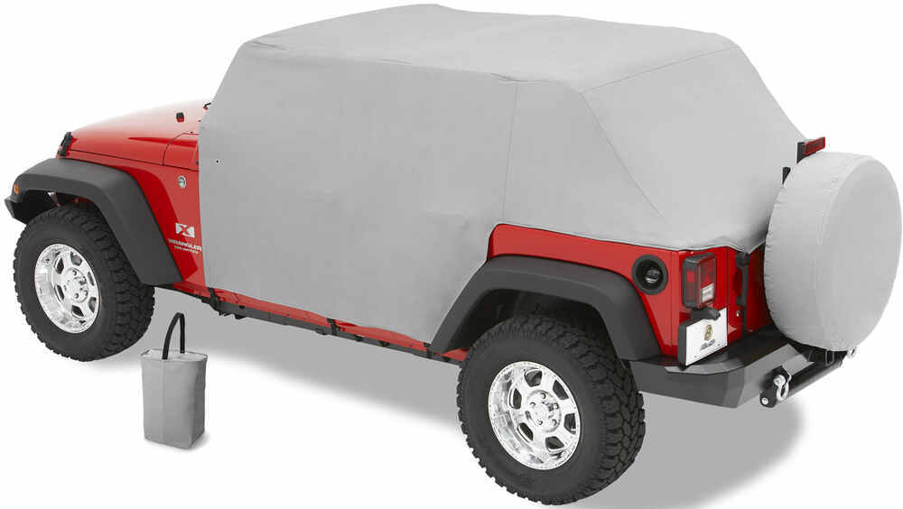 Bestop All-Weather Trail Cover for Jeep Wrangler Unlimited 2007+  Charcoal Minimal Ding Protection B8104109