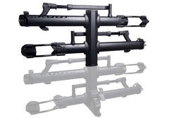 "Kuat NV 2.0 Base 4-Bike Platform Rack - 2"" Hitches - Aluminum - Tilting - Matte Black"