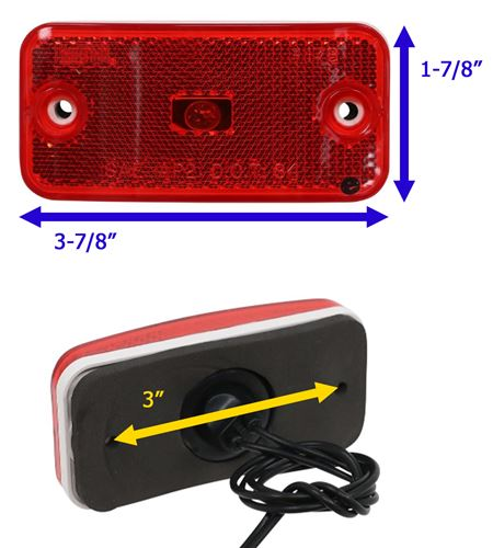 Bargman 34-17-808#178 Series Red Clearance//Side Marker Light
