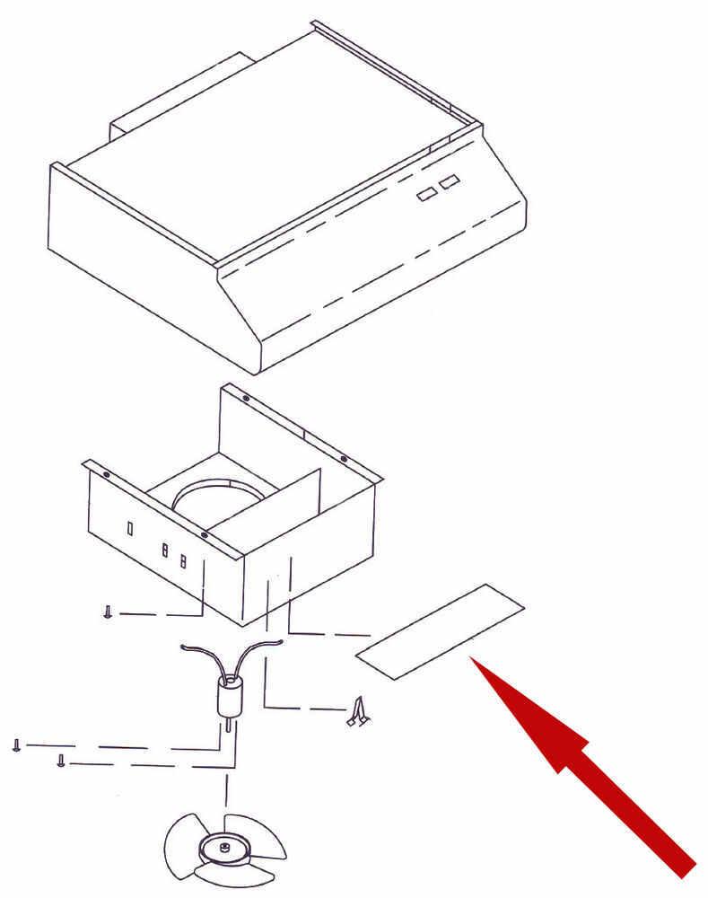 replacement lamp lens for ventline rv range hood ventline