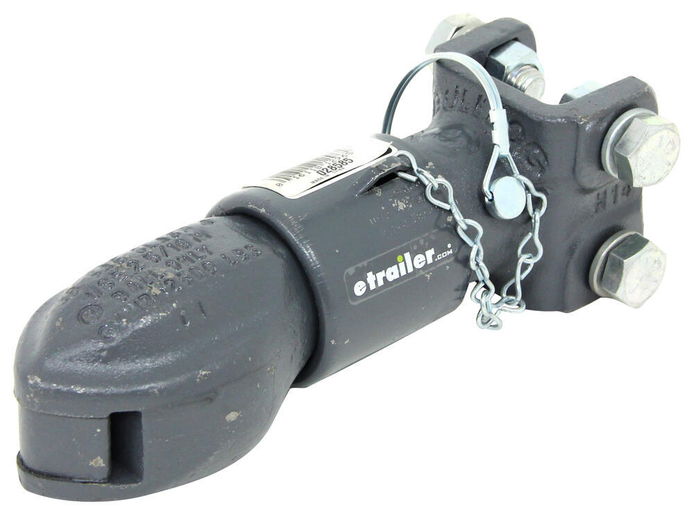 "Bulldog Collar-Lok Coupler - Gray - Adjustable Channel Mount - 2-5/16"" Ball - 12,500 lbs Pin-Style Fastener BD028585"