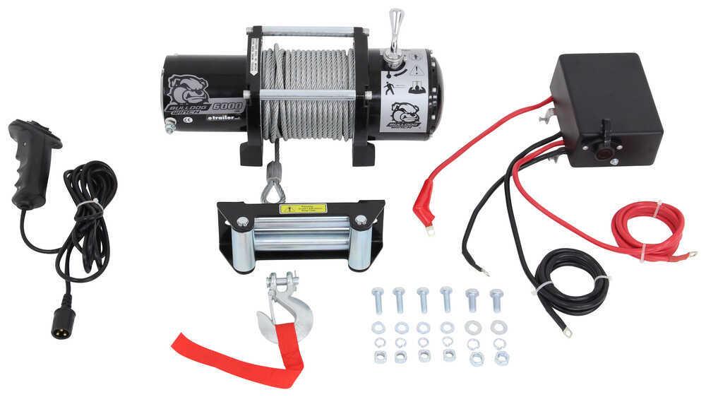 Bulldog Winch Utility Winch - Wire Rope - Roller Fairlead