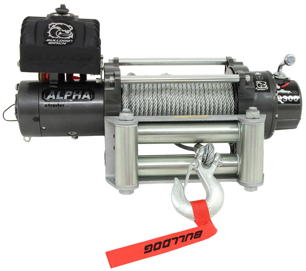Bulldog Winch Alpha Series Off Road Wire Rope Roller Battery Rack Wiring Diagram Fairlead 9300 Lbs Electric Bdw10013