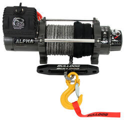 Bulldog Winch Alpha Series Off-Road Winch - Synthetic Rope - Hawse Fairlead - 9,300 lbs