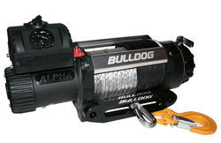 Bulldog Winch Alpha Series Off-Road Winch - Synthetic Rope - Hawse Fairlead - 12,500 lbs