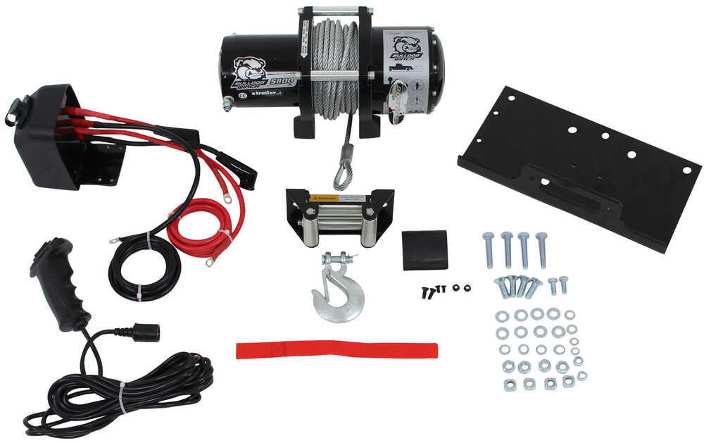 bulldog winch trailer winch wire rope roller fairlead 5 800 rh etrailer com trailer winch wiring kit trailer winch wiring kit